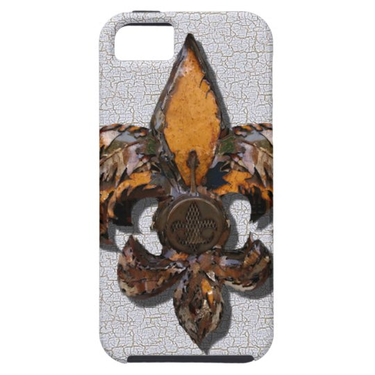 Rustic Fleur De Lis Crackle Background Case For The iPhone 5