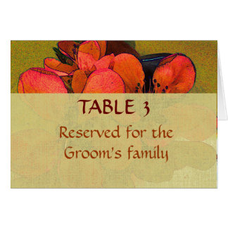 Rustic floral autumn wedding place seating chart card