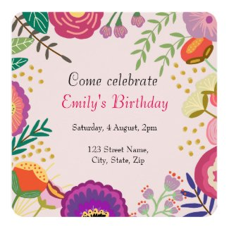 Rustic Floral Bloom Birthday Party