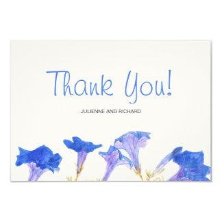 Rustic Floral | Blue Spring Wedding Thank You 9 Cm X 13 Cm Invitation Card