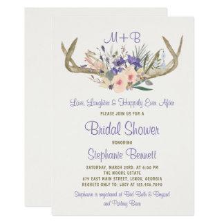 Rustic Floral Bridal Shower Invitation
