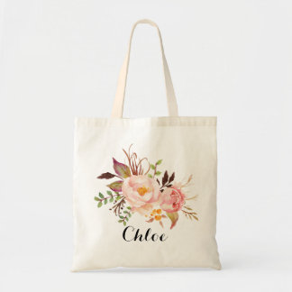 Rustic Floral bridesmaid Personalized