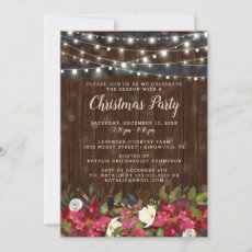 Rustic Floral Christmas Party