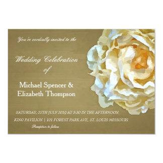 Rustic Floral Design Wedding Inivitation 13 Cm X 18 Cm Invitation Card