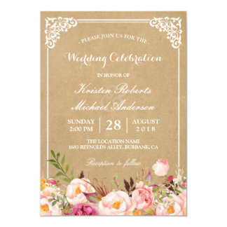 rustic wedding invitations announcements