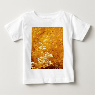 rustic,floral,gold,wavy,chic,elegant,pattern,vinta baby T-Shirt