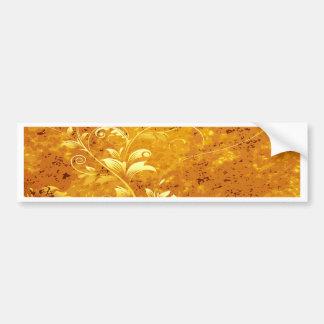 rustic,floral,gold,wavy,chic,elegant,pattern,vinta bumper sticker
