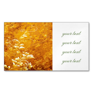 rustic,floral,gold,wavy,chic,elegant,pattern,vinta magnetic business cards