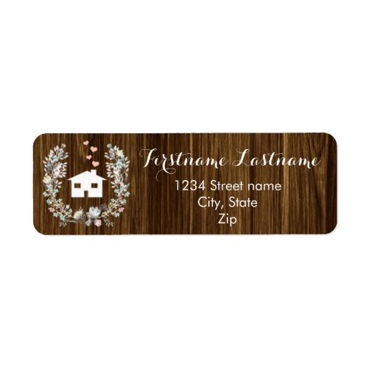 Rustic Floral Home Return Address Labels