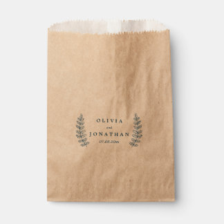 Rustic Floral | Kraft Paper Wedding Favor Bag