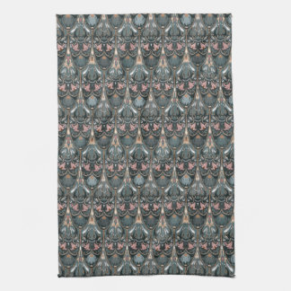 Rustic floral luxury squama military color pattern tea towel