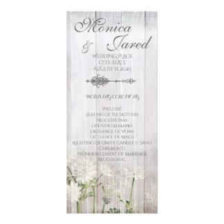 Rustic Floral Wedding Ceremony Program Full Color Rack Card