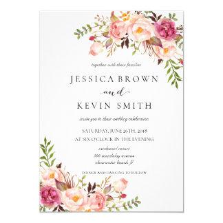 Rustic Floral Wedding Invitation-02 Card