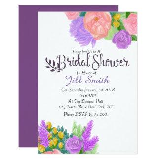 Rustic Flower Bridal Shower Invitation