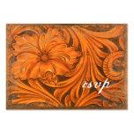 Rustic Flower Country Wedding RSVP Response Card