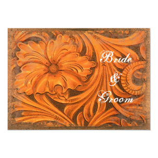 Rustic Flower Couples Country Wedding Shower 13 Cm X 18 Cm Invitation Card