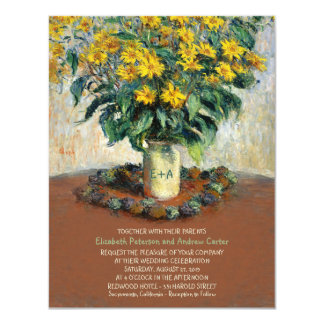 Rustic Flower Vase 4.25 x 5.5 Sunflower wedding 11 Cm X 14 Cm Invitation Card