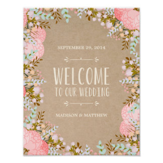 Rustic Flowers | Wedding Reception Sign