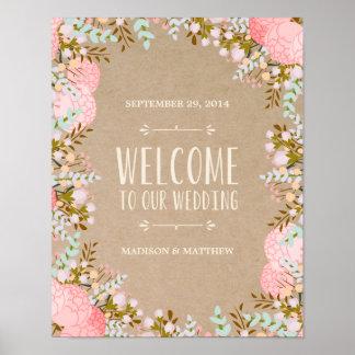 Rustic Flowers | Wedding Reception Sign
