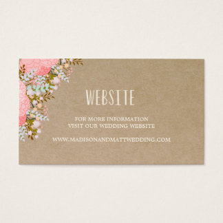 Rustic Flowers | Wedding Website Card