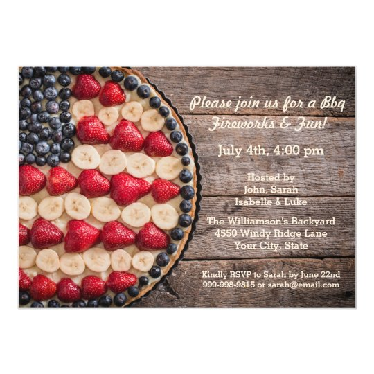 Rustic Foodie July 4th American USA Flag Fruit