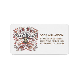 Rustic Forest Animals & Deer Wedding Label
