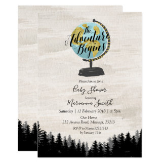 Rustic Forest Baby Shower Invitation