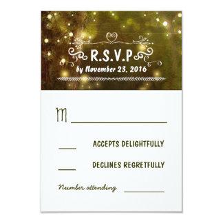 rustic forest enchanted wedding RSVP cards 9 Cm X 13 Cm Invitation Card