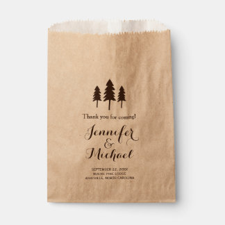 Rustic Forest Trees Wedding Thank You Candy Buffet Favour Bags