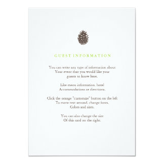 Rustic Forest Wedding Insert Card 11 Cm X 16 Cm Invitation Card