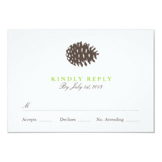 Rustic Forest Wedding RSVP 9 Cm X 13 Cm Invitation Card