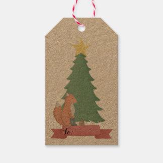 Rustic Fox and Fir Tree Christmas Gift Tags