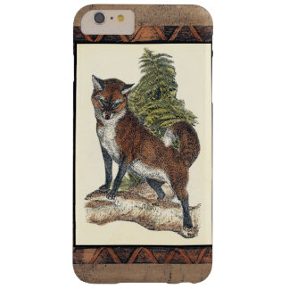 Rustic Fox Stepping on a Tree Trunk Barely There iPhone 6 Plus Case