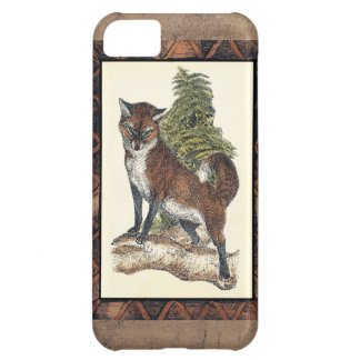 Rustic Fox Stepping on a Tree Trunk iPhone 5C Case