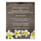 Rustic Frangipani / Plumeria Beach Wedding Invites