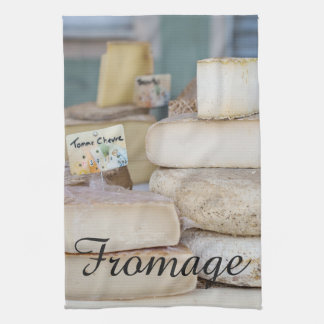 Rustic French Cheese Selection Tea Towel
