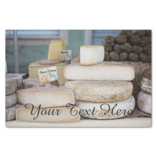 Rustic French Cheese Selection Tissue Paper