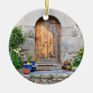 Rustic French Gite in Brittany France Ornament