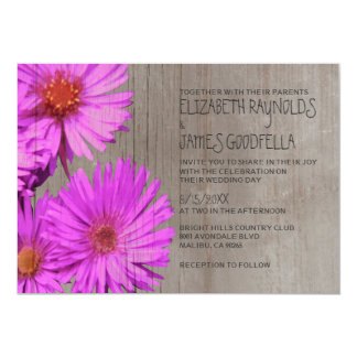 Rustic Frikart's Aster Wedding Invitations