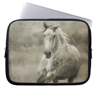 Rustic Galloping Andalusian Horse Laptop Sleeves