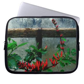 Rustic Garden Floral Laptop Sleeve
