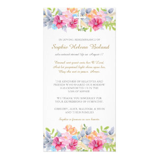 Rustic Garden Funeral Sympathy Thank You Card Photo Card Template