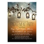 rustic garden lights - lanterns engagement party custom announcements