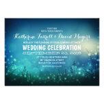 Rustic Garden Lights Romantic Wedding Invitation