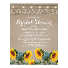 Rustic Garden Sunflowers Lights Bridal Shower