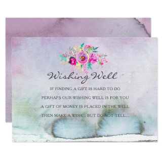 Rustic Garden Watercolor Wishing Well Cards