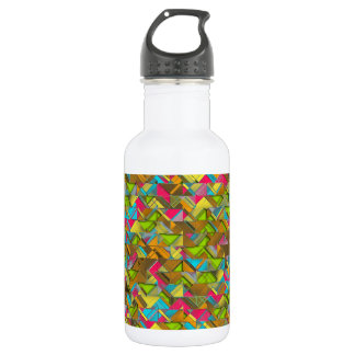 Rustic Geometric Explosion 532 Ml Water Bottle