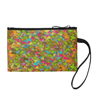 Rustic Geometric Explosion Coin Purse