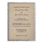 Rustic Glitter Wedding Invitation