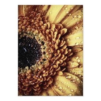 Rustic Golden Brown Floral Wedding 13 Cm X 18 Cm Invitation Card